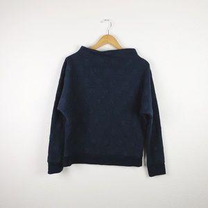 Anthropologie Postmark Navy Blue Circle Sweater